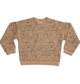Blossom kids Sweater autumn forest | almond