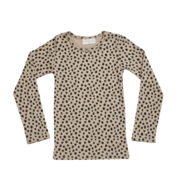 Blossom kids Longsleeve rib animal dot | warm sand