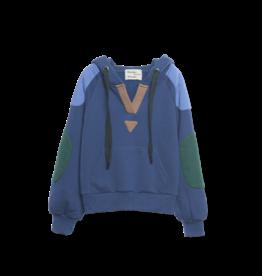 Wander & Wonder Color block hoodie | ink