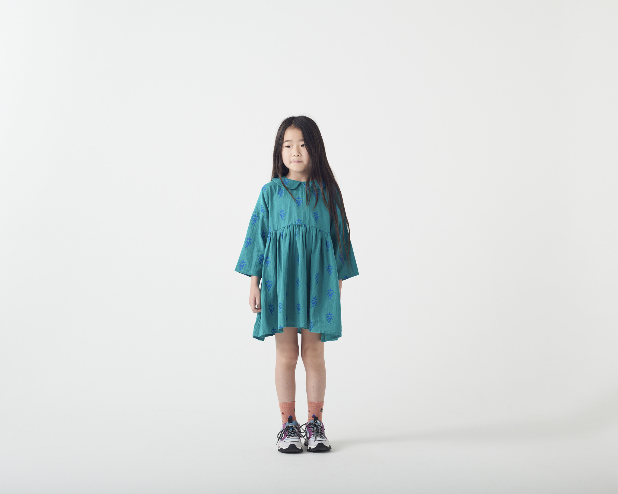 Wander & Wonder Habiba dress   peacock aztec