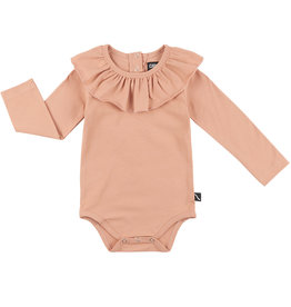 CarlijnQ Bodysuit with big collar | pink