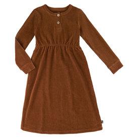 CarlijnQ 2 button dress | brown