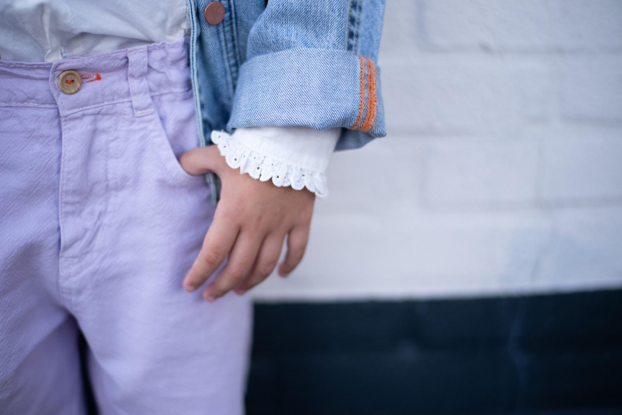 piupiuchick Mom fit trousers | lavender