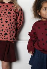 DAILY BRAT Heart oversized sweater   rosewood