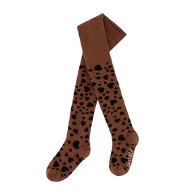 DAILY BRAT Hearts tights | Sienna brown