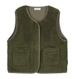 DAILY BRAT Teddy vest forest green