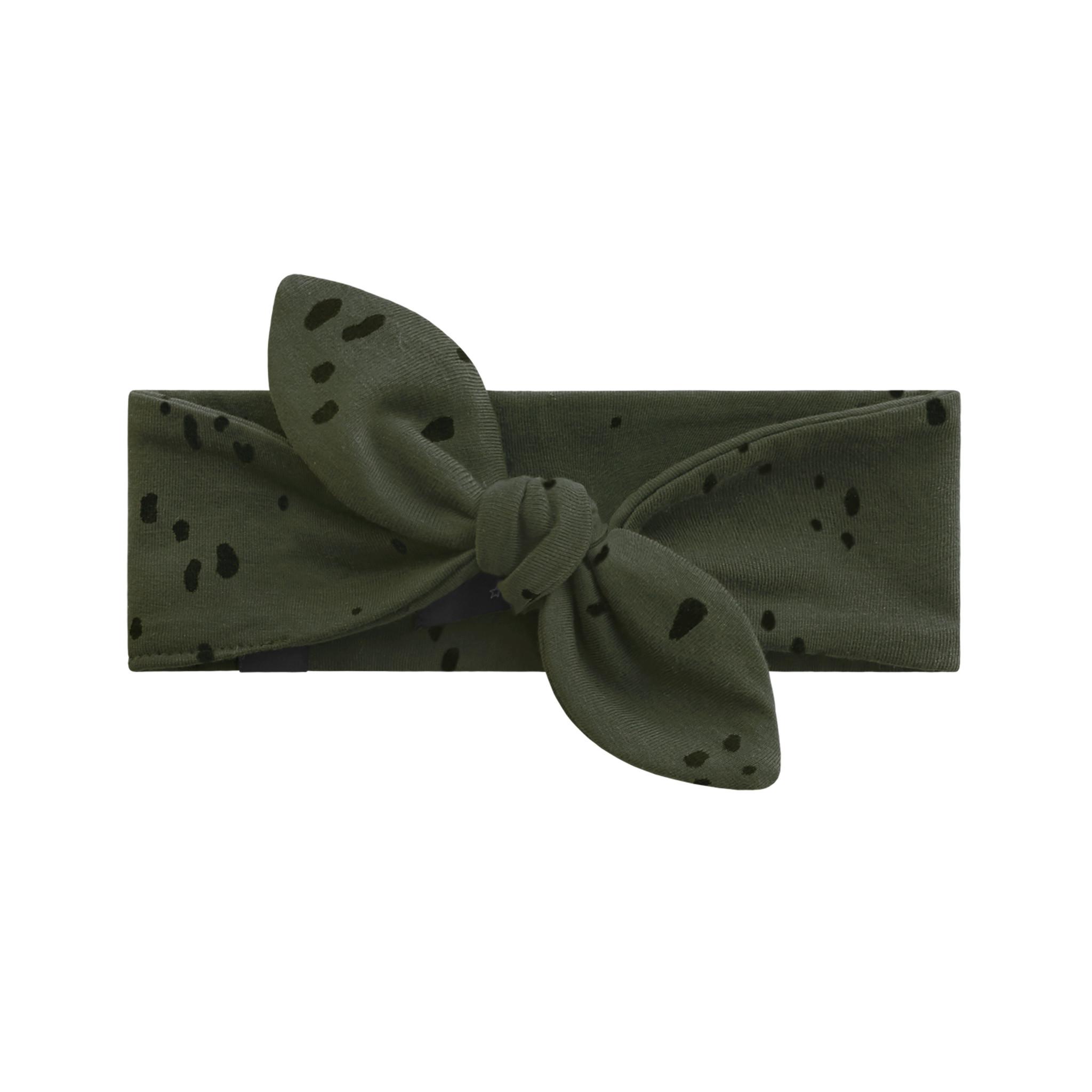 Your Wishes Splatters headband | desk green