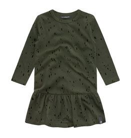 Your Wishes Splatters shift dress | desk green