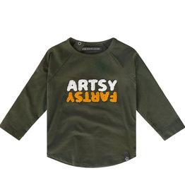Your Wishes Artsy fartsy raglan longsleeve | desk green