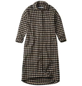 Mingo Oversized shirt dress | | check caramel / black