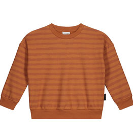 DAILY BRAT Otis oversized striped sweater | Colombia brown