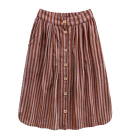 Your Wishes Rusty stripe skirt | button long skirt