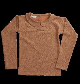 Blossom kids Peterpan longsleeve shirt, leave drops | caramel fudge