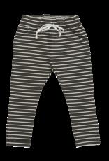 Blossom kids Strap cord joggers, petit stripes   espresso black