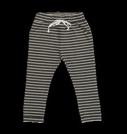Blossom kids Strap cord joggers, petit stripes | espresso black