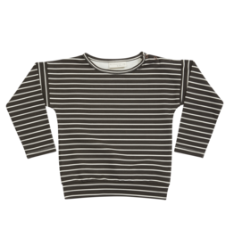 Blossom kids Longsleeve shirt, petit stripes | espresso black