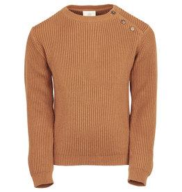 en'fant Knit pullover - GOTS | leather brown