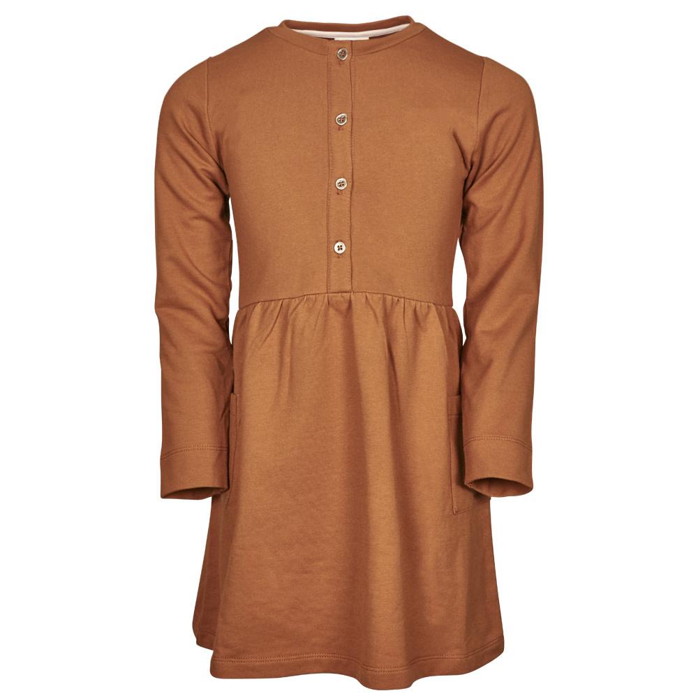 en'fant Dress - GOTS | leather brown