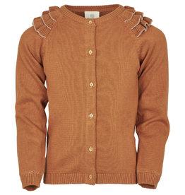 en'fant Knit cardigan | leather brown