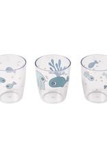 Done by Deer Yummy mini glas 3 pcs Sea friends | blue