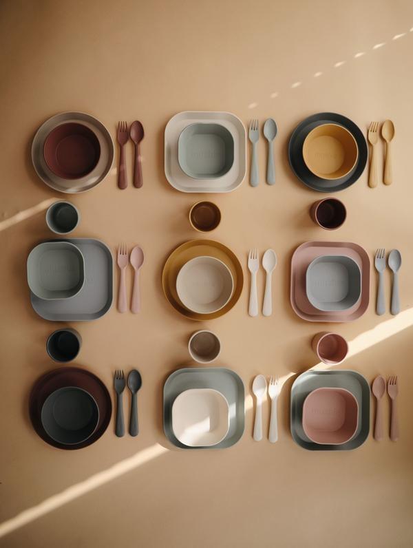 Mushie Fork-Spoon | Blush