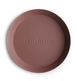 Mushie Plates round set of 2 | Woodchuck