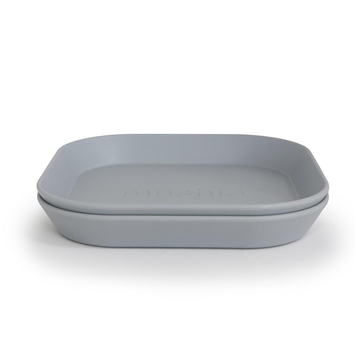 Mushie Plates square set of 2 | Cloud