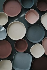 Mushie Plates square set of 2   Blush