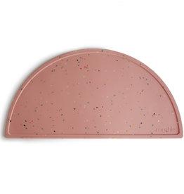 Mushie Silicone mat | powder pink confetti