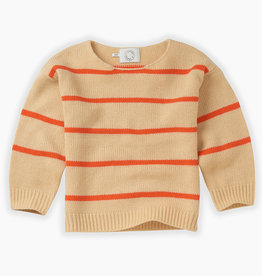 Sproet & Sprout Knit sweater stripe | Sesame