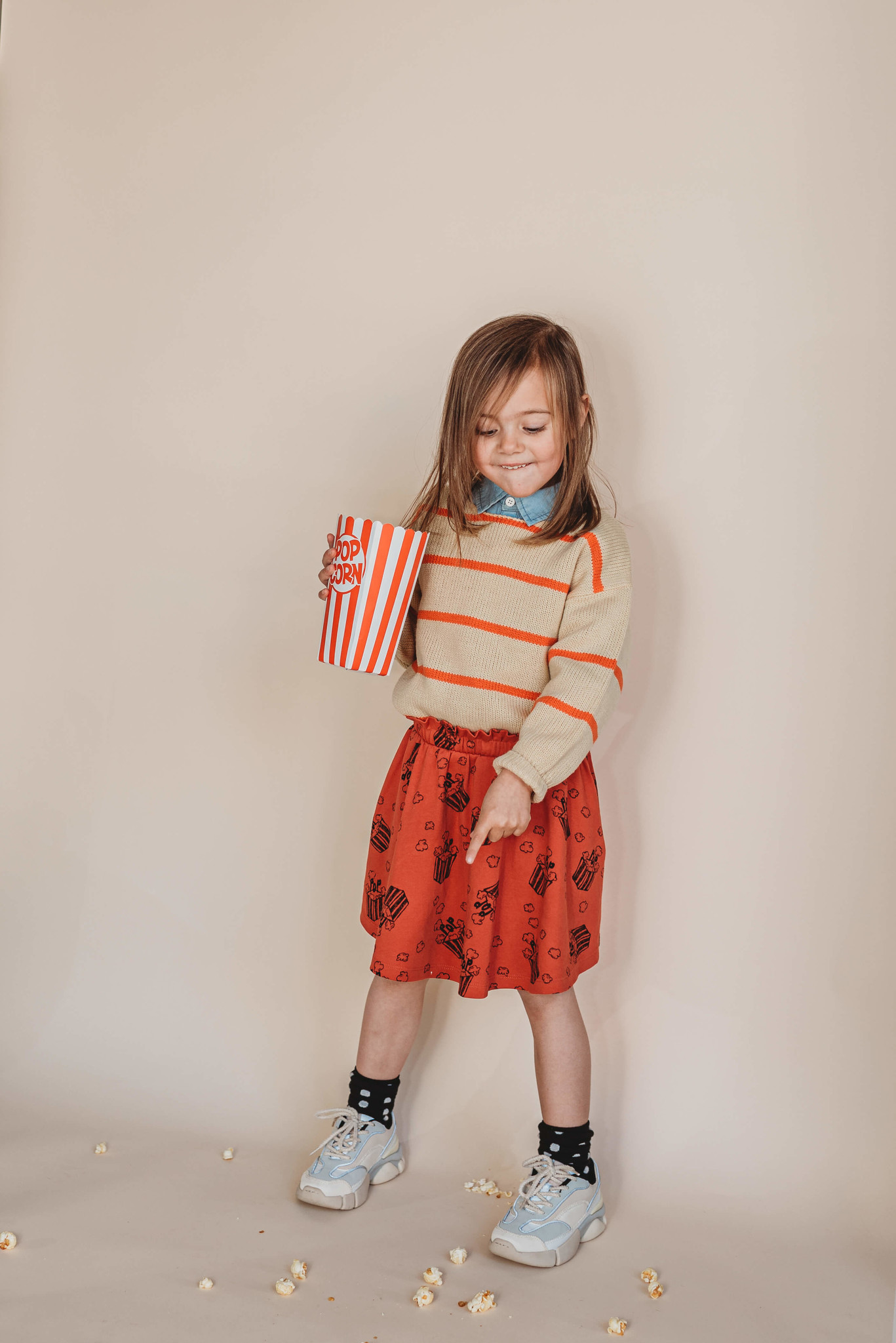 Sproet & Sprout Skirt Popcorn AOP