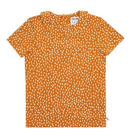 CarlijnQ Golden sparkles t-shirt collar