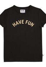 CarlijnQ Have fun t-shirt with print black