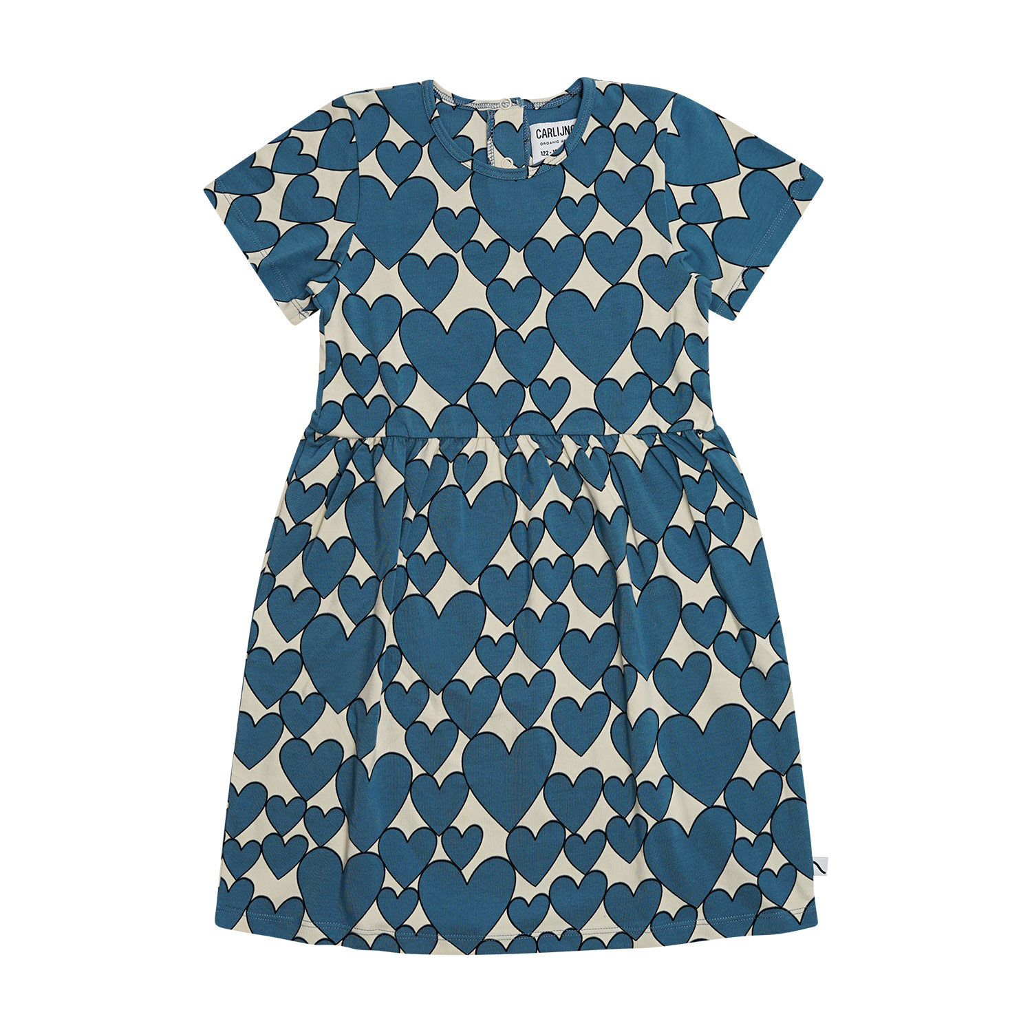 CarlijnQ Hearts dress short sleeves
