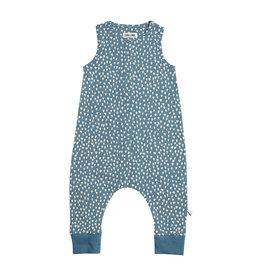 CarlijnQ Petrol sparkles jumpsuit short sleeves/ long legs