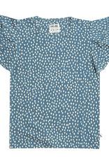 CarlijnQ Petrol sparkles ruffled t-shirt
