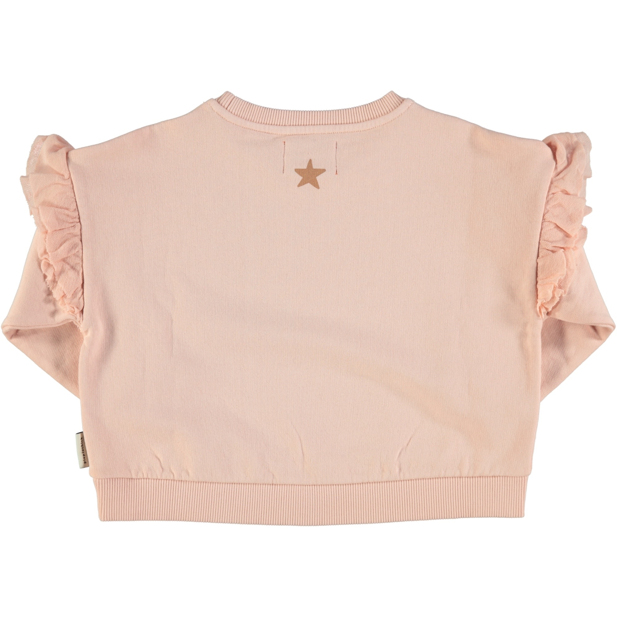 piupiuchick Sweater with frills   pale pink with nut print