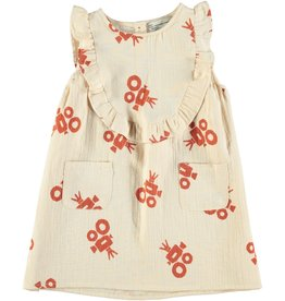 piupiuchick Short dress with frills sand | with camera all over