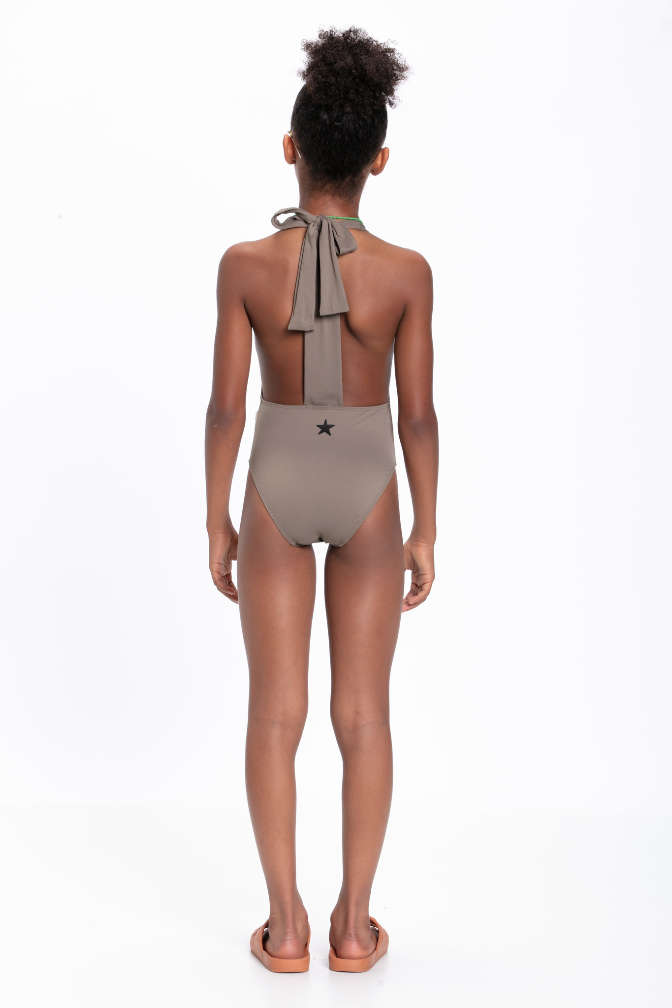 piupiuchick Swimsuit with back bow | taupe
