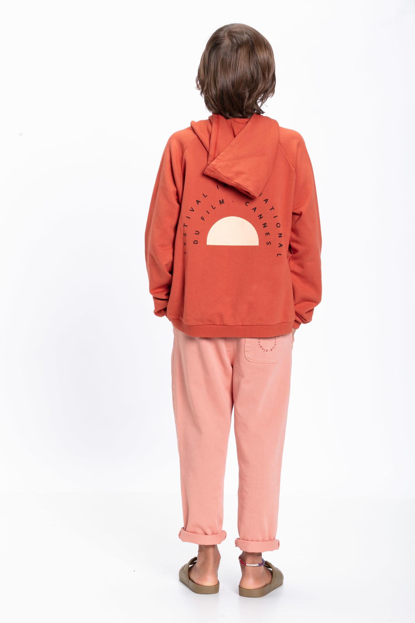 piupiuchick Hooded sweatshirt | garnet with print