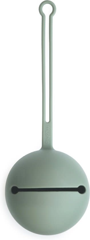 Mushie Bibs silicone pacifier case   Cambridge blue