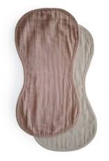 Mushie Burp cloth | Natural/fog