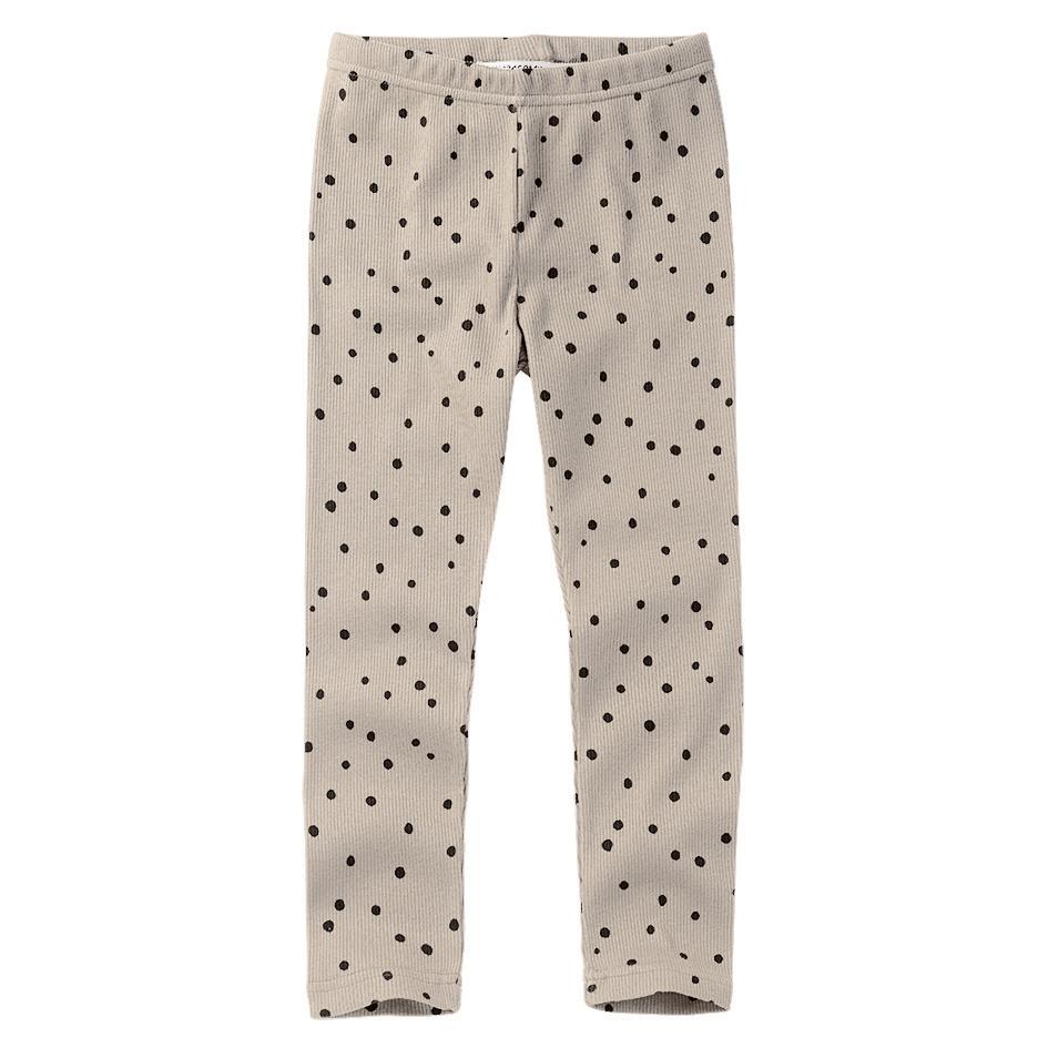 Mingo Rib Legging Basics Dot Black/White