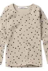 Mingo Rib Top Basics Dot Black/White