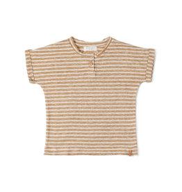Nixnut Be tshirt stripe dust caramel