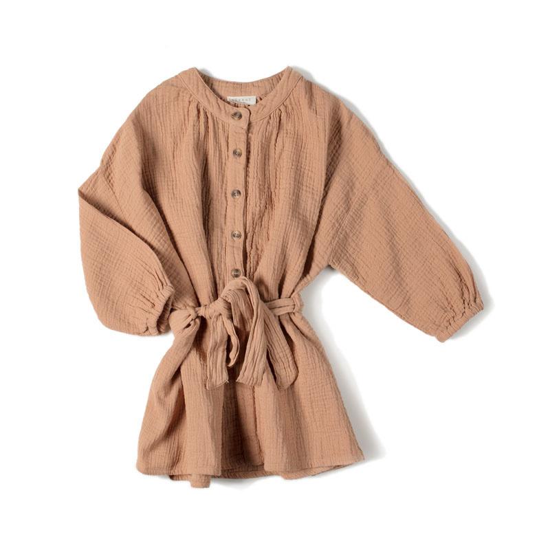 Nixnut Cord dress nude