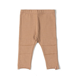 Nixnut Tight legging stripe Nude/Caramel