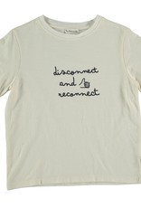 My Little Cozmo Organic cotton flame t-shirt | Ivory