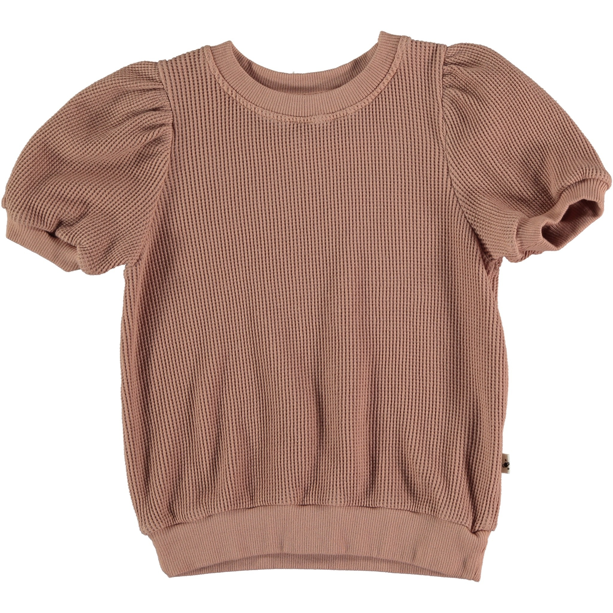 My Little Cozmo Organic cotton waffled top | terra cotta
