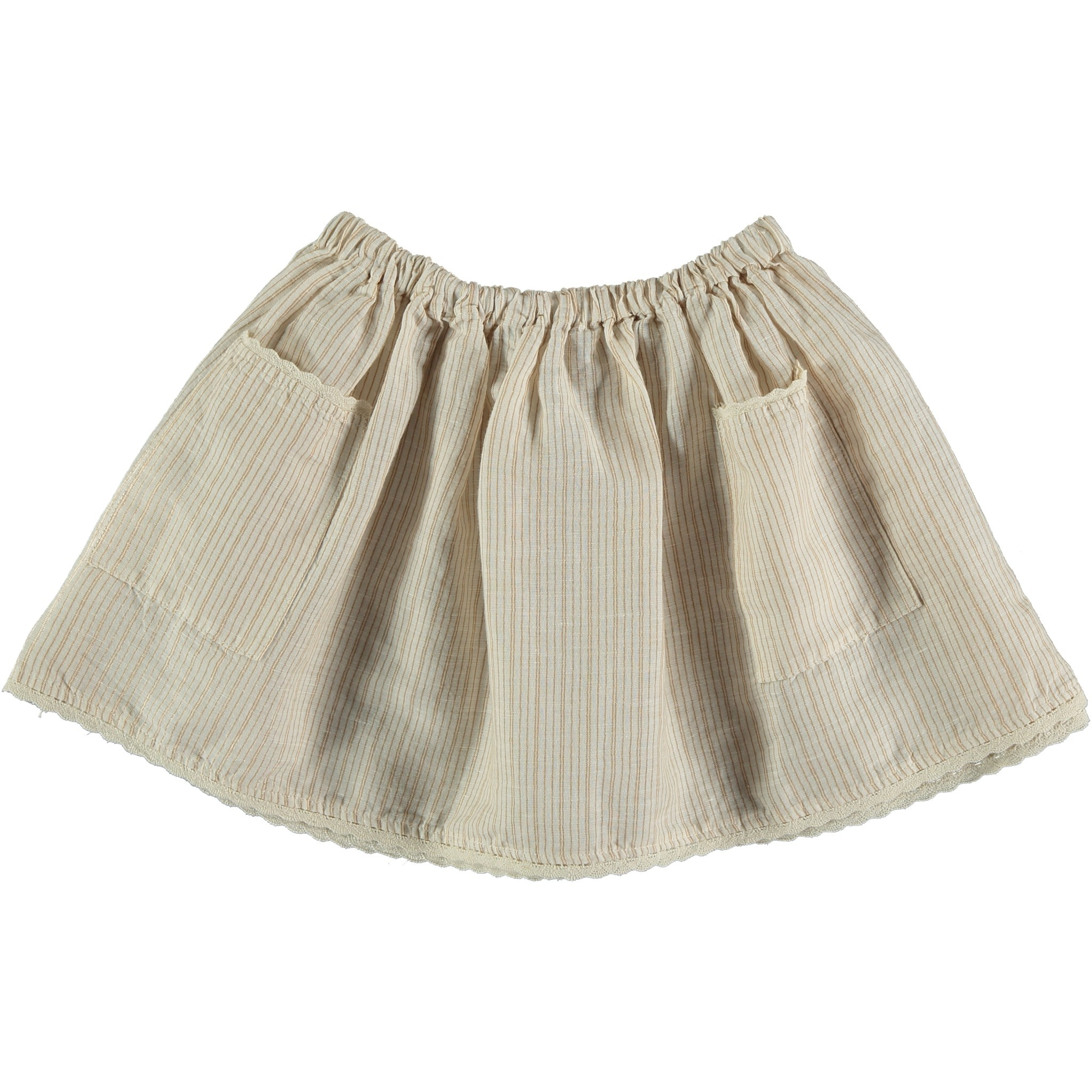 My Little Cozmo Linnen & Cotton striped skirt | cotton woven